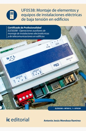 Montaje de elementos y equipos de instalaciones eléctricas de baja tensión en edificios Antonio Jesús Mendoza Ramírez