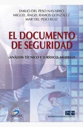 El documento de seguridad Emilio Del Peso Navarro