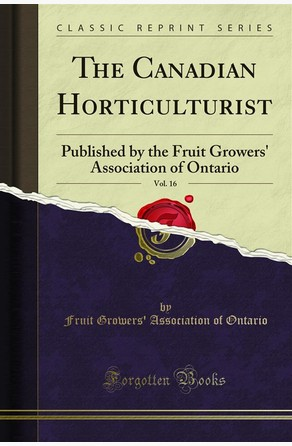 The Canadian Horticulturist Fruit Growers' Association of Ontario