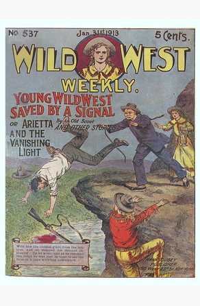Young Wild West Saved by a Signal An Old Scout